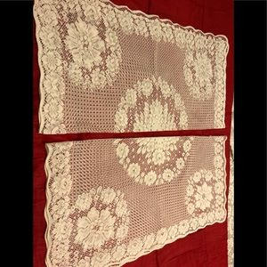 Other - 2 piece square lace table cover